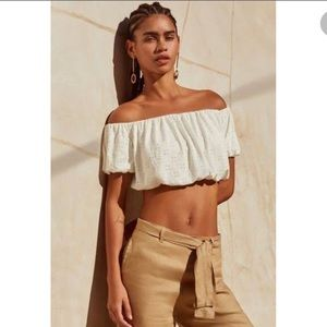 NWOT Urban Outfitters White Crop Top